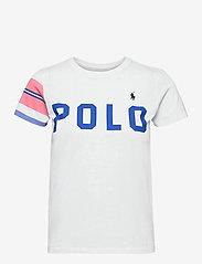 Polo Ralph Lauren - Striped-Trim Logo Jersey Tee - t-shirts - white - 0