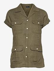 Polo Ralph Lauren - SS GNIS TP-SHORT SLEEVE-SHIRT - kortærmede skjorter - basic olive - 0