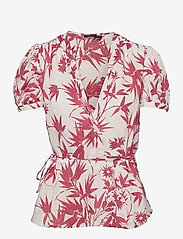 Polo Ralph Lauren - SS GAGA TP-SHORT SLEEVE-SHIRT - short-sleeved blouses - 1028 magpie flora - 0