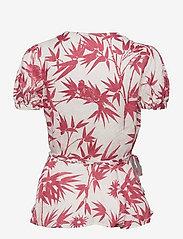 Polo Ralph Lauren - SS GAGA TP-SHORT SLEEVE-SHIRT - short-sleeved blouses - 1028 magpie flora - 1