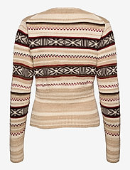 Polo Ralph Lauren - TE FRT CARDI-LONG SLEEVE-SWEATER - cardigans - cream/brown strip - 1