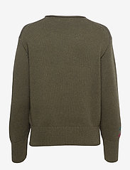 Polo Ralph Lauren - LS ZBR CN PO-CLASSIC-LONG SLEEVE-SWEATER - jumpers - olive multi - 1