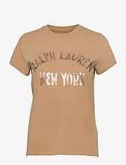 Polo Ralph Lauren - NY RL T BRNZ-SHORT SLEEVE-KNIT - t-shirts - birkshire tan - 0