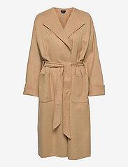 Polo Ralph Lauren - Wool-Blend Wrap Coat - winter coats - camel - 0