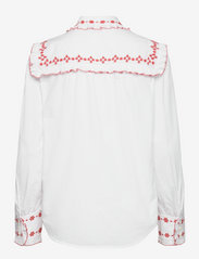 Polo Ralph Lauren - Ruffle-Trim Embroidered Cotton Shirt - long-sleeved shirts - white - 1