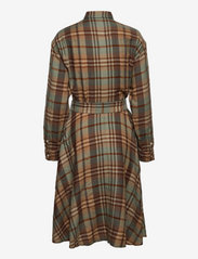 Polo Ralph Lauren - Plaid Wool Shirtdress - shirt dresses - 957 brown tan mul - 1