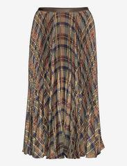 Polo Ralph Lauren - Plaid Pleated Midi Skirt - midi skirts - 1121 fall multi p - 0