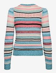 Polo Ralph Lauren - Striped Cotton-Linen Sweater - jumpers - teal multi - 1