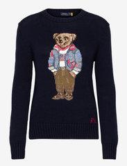 Polo Ralph Lauren - Bandanna Polo Bear Cotton Sweater - jumpers - navy multi - 0