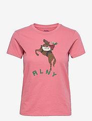 Polo Ralph Lauren - Cowgirl Cotton Jersey Tee - t-shirts - desert rose - 0