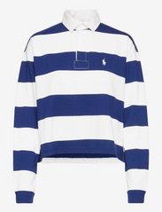 Polo Ralph Lauren - Cotton Cropped Rugby Shirt - polo shirts - deckwash white/fa - 0
