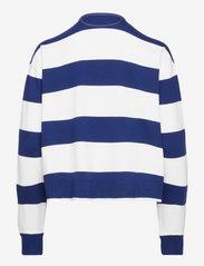 Polo Ralph Lauren - Cotton Cropped Rugby Shirt - polo shirts - deckwash white/fa - 1