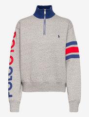 Polo Ralph Lauren - Logo Quarter-Zip Fleece Pullover - sweatshirts - dark vintage heat - 0
