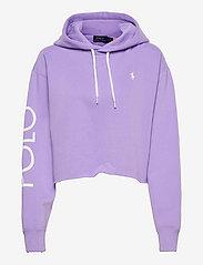 Polo Ralph Lauren - Logo Fleece Cropped Hoodie - hoodies - cruise lavender - 0