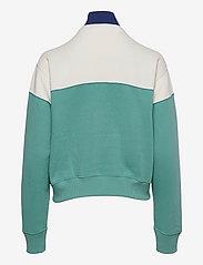 Polo Ralph Lauren - Color-Blocked Fleece Quarter-Zip - sweatshirts - deckwash white/ti - 1