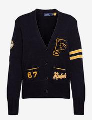 Polo Ralph Lauren - Patchwork Wool V-Neck Cardigan - cardigans - navy multi - 0
