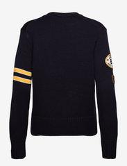 Polo Ralph Lauren - Patchwork Wool V-Neck Cardigan - cardigans - navy multi - 1
