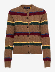 Polo Ralph Lauren - Striped Cable-Knit Cardigan - cardigans - camel multi strip - 0