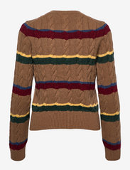 Polo Ralph Lauren - Striped Cable-Knit Cardigan - cardigans - camel multi strip - 1