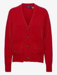 Wool-Blend Buttoned Cardigan - CARRIAGE RED