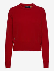 Wool-Blend Crewneck Sweater - CARRIAGE RED
