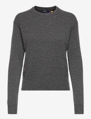 Wool-Blend Crewneck Sweater - STADIUM GREY HEAT