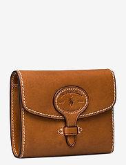 Polo Ralph Lauren - Tartan Wool Compact Wallet - wallets - cuoio - 2