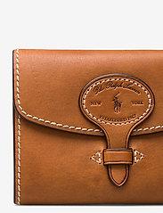 Polo Ralph Lauren - Tartan Wool Compact Wallet - wallets - cuoio - 3