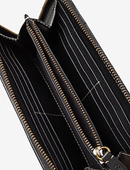 Polo Ralph Lauren - INLAY LEATHER-LONG ZIP WLT-WLT-SMA - wallets - black multi - 3