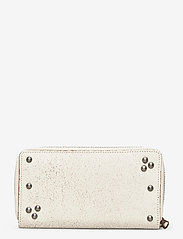Polo Ralph Lauren - STUDDED DS LTHR-LONG ZIP WLT-WLT-SM - wallets - cream - 1