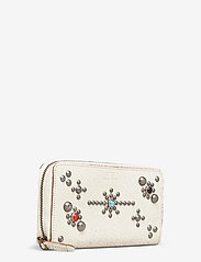 Polo Ralph Lauren - STUDDED DS LTHR-LONG ZIP WLT-WLT-SM - wallets - cream - 2