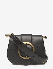 Polo Ralph Lauren - Pebbled Leather Lennox Bag - olkalaukut - black - 0
