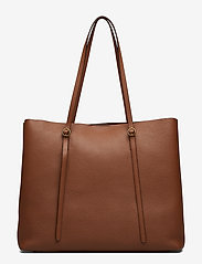Polo Ralph Lauren - Leather Large Lennox Tote - fashion shoppers - saddle - 2