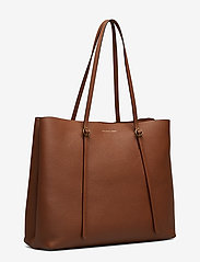 Polo Ralph Lauren - Leather Large Lennox Tote - fashion shoppers - saddle - 3