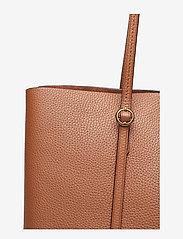 Polo Ralph Lauren - Leather Large Lennox Tote - fashion shoppers - saddle - 4