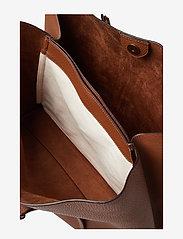 Polo Ralph Lauren - Leather Large Lennox Tote - fashion shoppers - saddle - 6