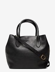Polo Ralph Lauren - Leather Medium Bellport Tote - shoppers - black - 0