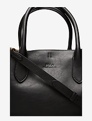 Polo Ralph Lauren - Leather Medium Bellport Tote - shoppers - black - 3
