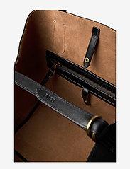 Polo Ralph Lauren - Leather Medium Bellport Tote - shoppers - black - 5