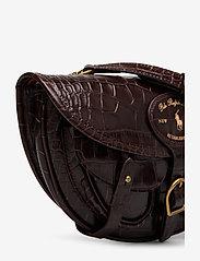 Polo Ralph Lauren - CROC EMBOSSED LTHR-CONV BELTBAG-CXB - olkalaukut - chocolate - 4