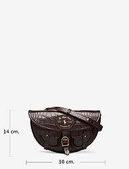 Polo Ralph Lauren - CROC EMBOSSED LTHR-CONV BELTBAG-CXB - olkalaukut - chocolate - 6