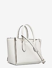 Polo Ralph Lauren - Leather Mini Sloane Satchel - shoulder bags - white - 2