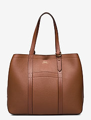 Polo Ralph Lauren - Pebbled Leather Medium Tote - shoppers - cuoio - 0