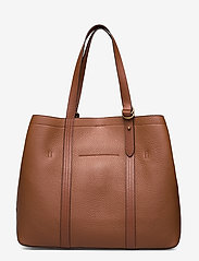 Polo Ralph Lauren - Pebbled Leather Medium Tote - shoppers - cuoio - 1
