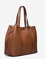 Polo Ralph Lauren - Pebbled Leather Medium Tote - shoppers - cuoio - 2