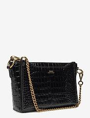 Polo Ralph Lauren - CROC EMBOSSED LTHR-SLOANE XBDY-CXB- - shoulder bags - black - 3