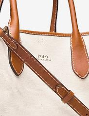 Polo Ralph Lauren - POLO CANVAS-MD OPEN TOTE-TTE-MED - håndtasker - natural - 3