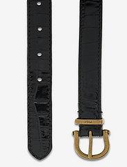 Polo Ralph Lauren - Single-Prong Leather Belt - belts - black - 1