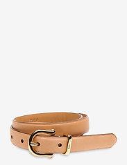 Polo Ralph Lauren - Vachetta Leather Belt - riemen - natural - 0
