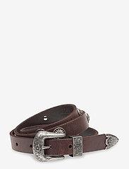 Polo Ralph Lauren - Western Calfskin Belt - belts - dark brown - 0